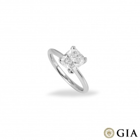 Platinum Cushion Cut Diamond Ring 2.00ct I/SI1